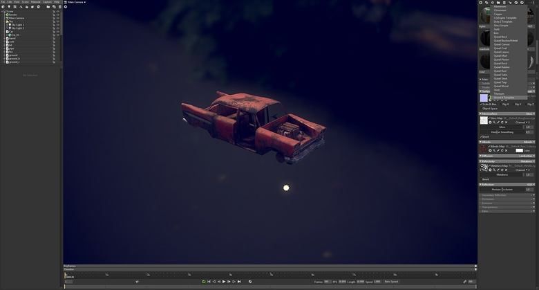Setting up of materials and importing textures onto the car asset