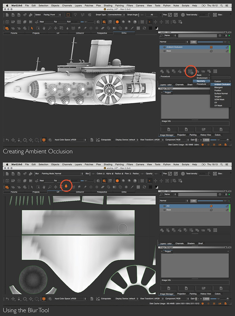 Creating the model's ambient occlusion (AO)
