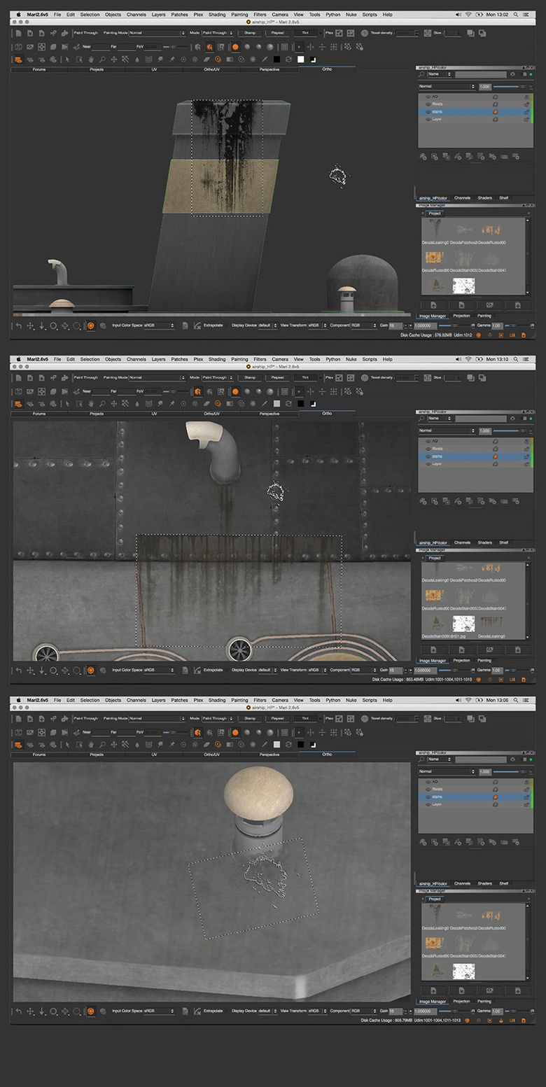 Adding dirt and grime build-up gives the textures more depth