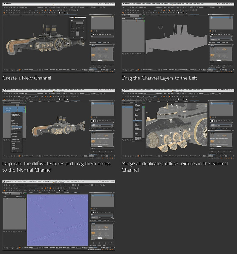 Finishing off the texturing process with normal maps
