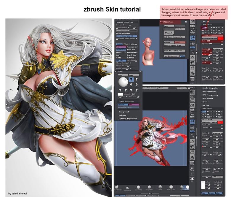 ZBrush skin SSS tutorial 1