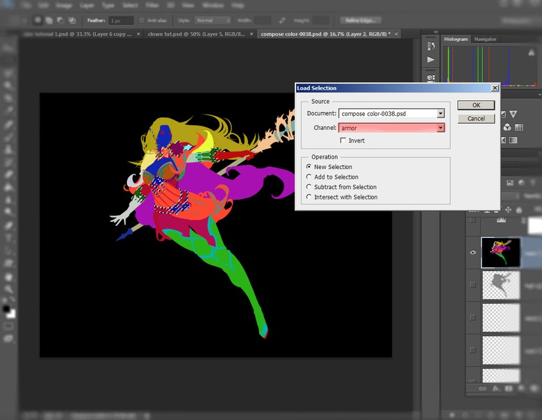 Save and load your ZBrush selections in Photoshop