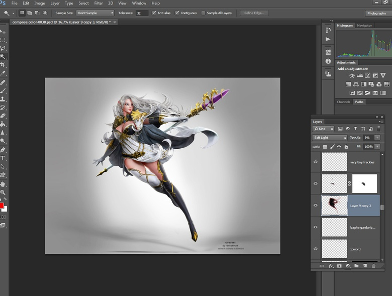 Doing composition in Photoshop using rendered passes