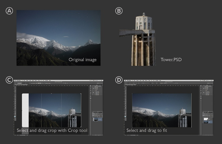 Preparing the background image in Photoshop