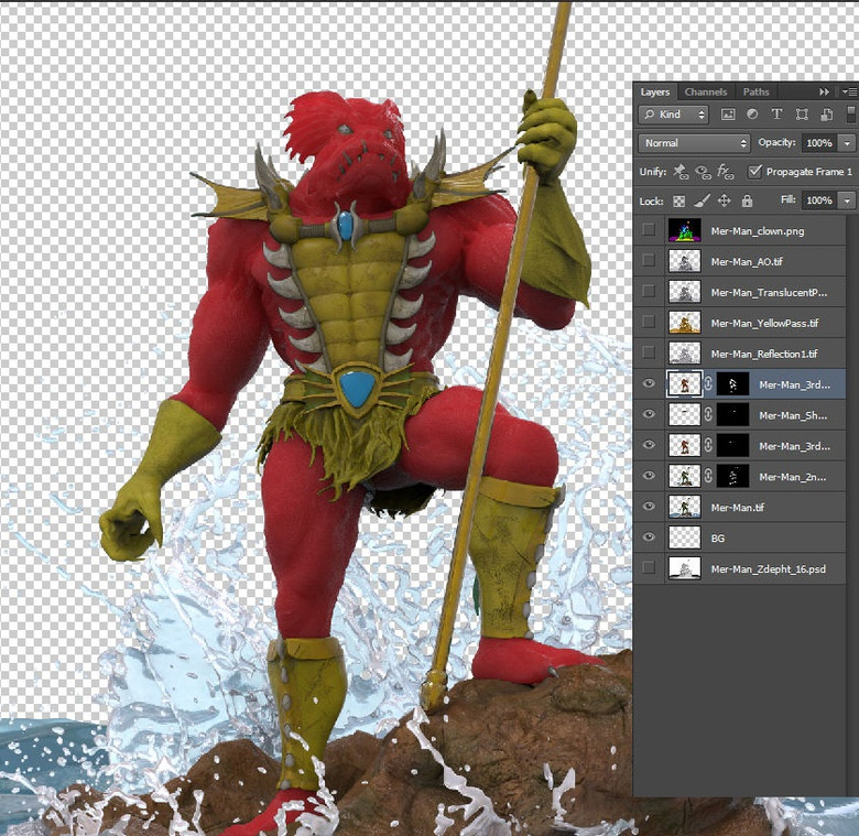 Adding a red passes for the skin to accentuate the SSS effect