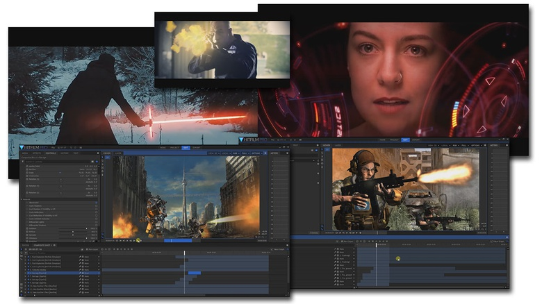 HitFilm allows you to improve your sequences, adding shocking visual effects of professional quality
