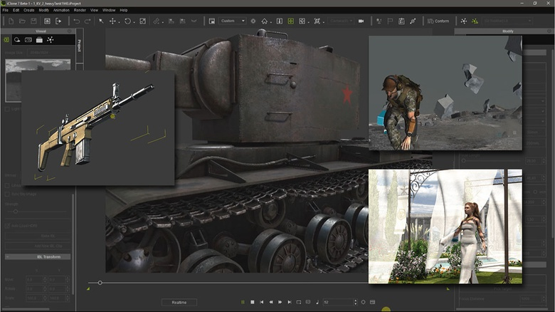 iClone provides all these high quality features in real-time, making the render process extremely fast
