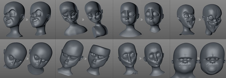 Heads before and after refinement