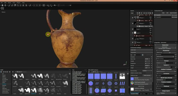 There are several magical maps that help you within Substance Painter