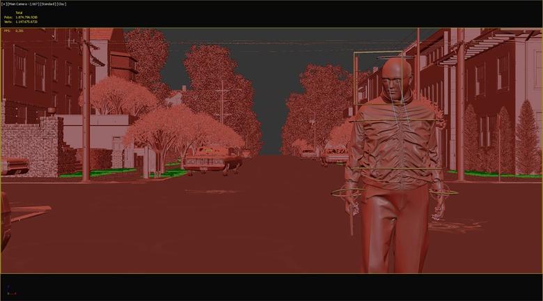 Full scene before hitting the render button