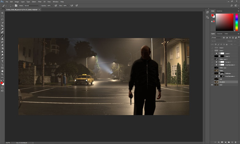 Raw render, before some color correction and retouching the asphalt