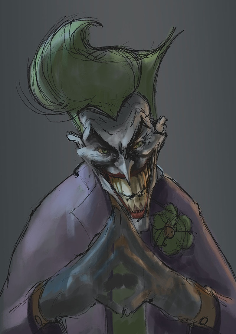 Refining the lighting and colors. And starting to paint the features.