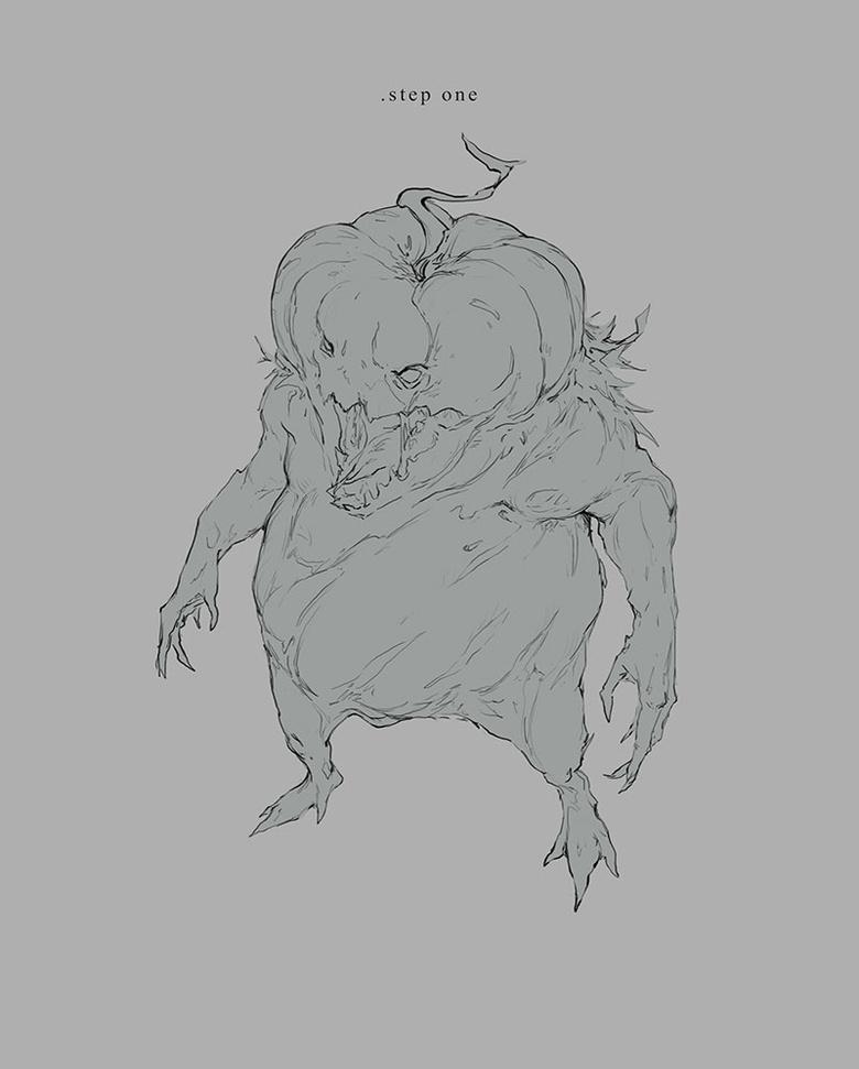 A pumpkin monster sounds fitting