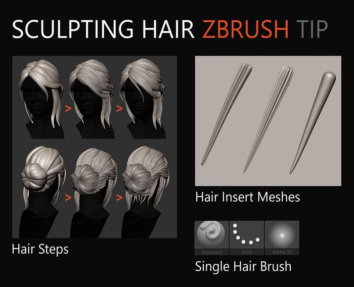 Sculpting hair for 3D print