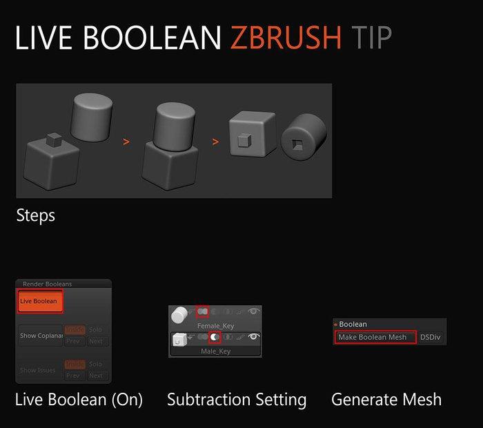 Live Boolean tip