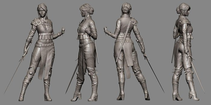 Ciri Concept Art Witcher 3