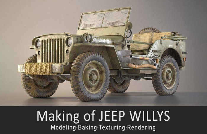 """Making of """"Jeep Willys"""" · 3dtotal · Learn 