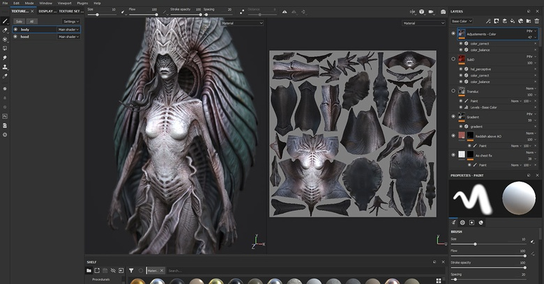 Create a female creature with ZBrush & Painter · 3dtotal