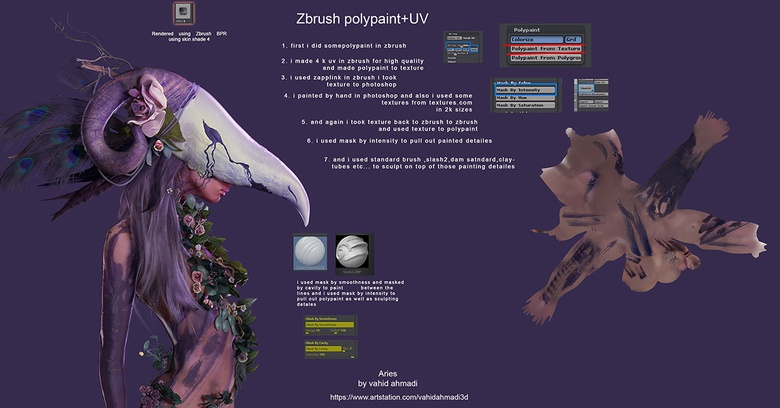 ZBrush and Photoshop painting and texturing