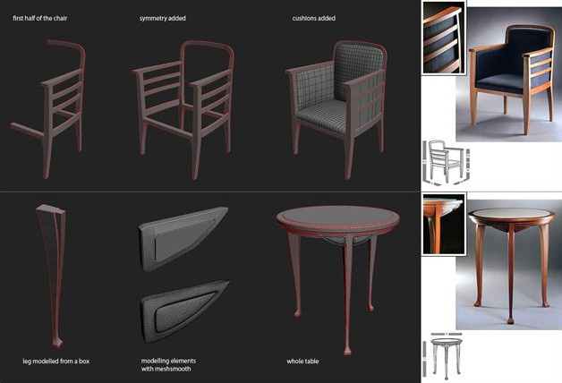 Picture 5: Modeling the furniture