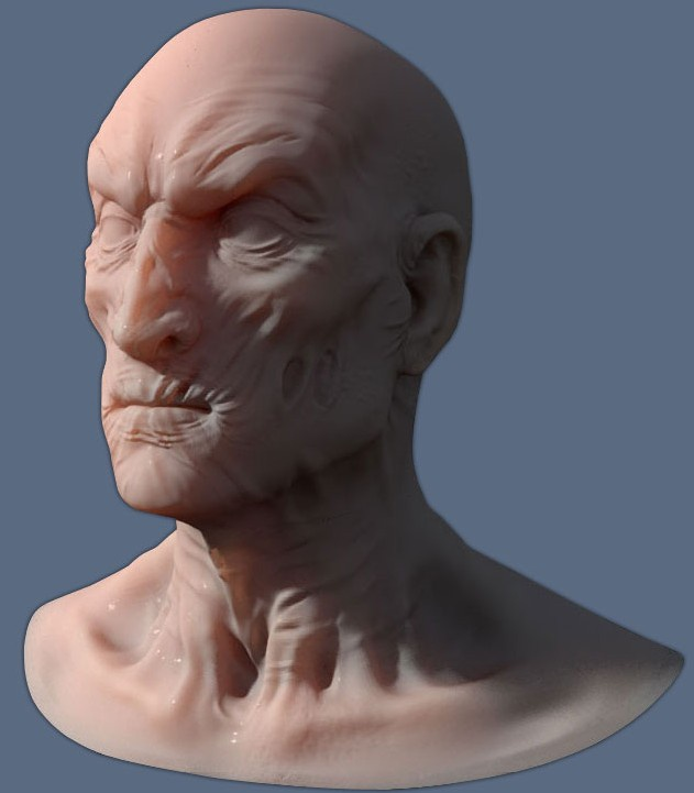 Modo - ZBrush displacement workflow with Displacement Exporter