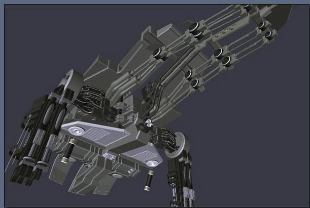 Seth MainBody Mechanical Skeleton (SmoothShade View)