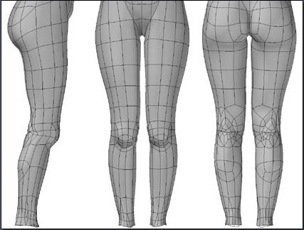Fig. 6-28 Step 4. The legs after mirror duplicating.