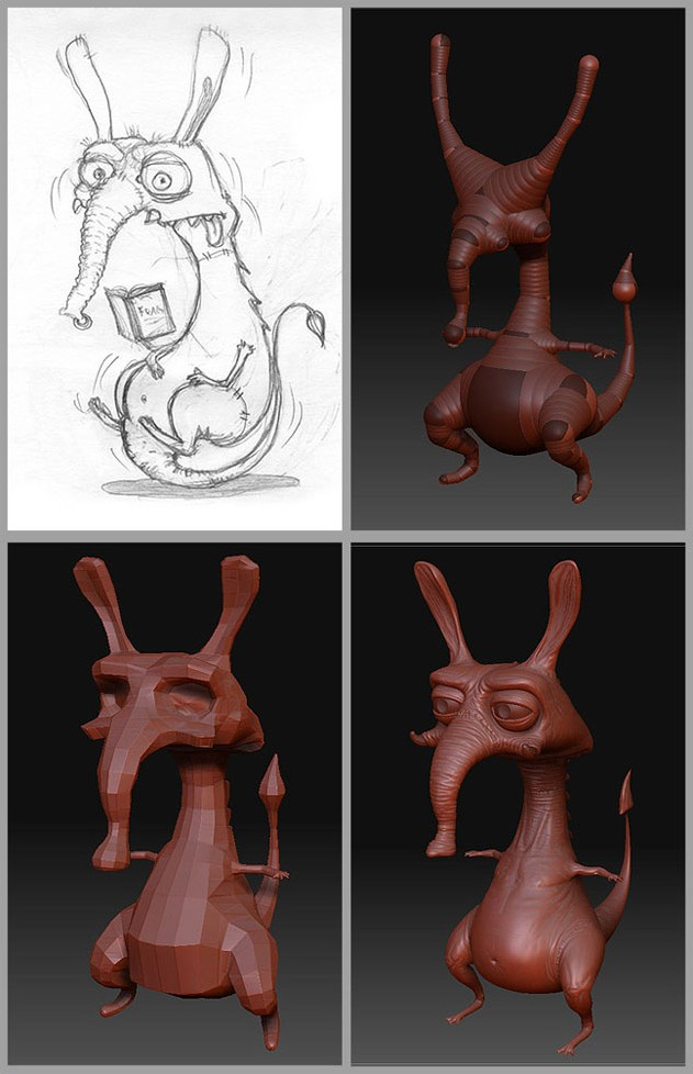 Fig. 01_Concept_sketch_and_Low_poly_model