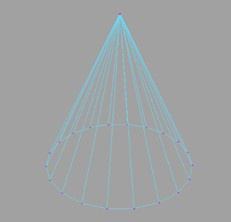 A polygon cone in Maya