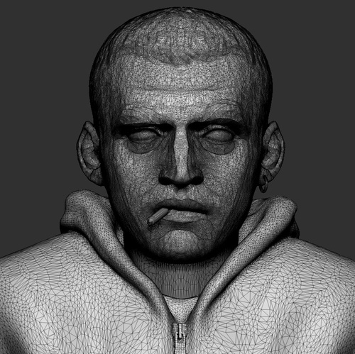 decimation master process retopology male model