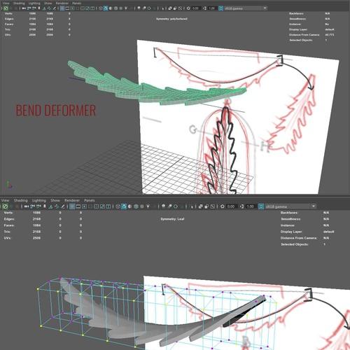 initial modeling maya 3d