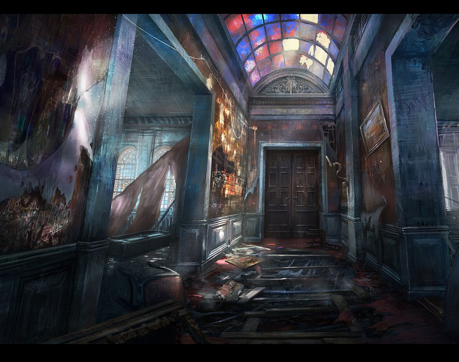 'Corridor/Concept Art'by Dennis Chan