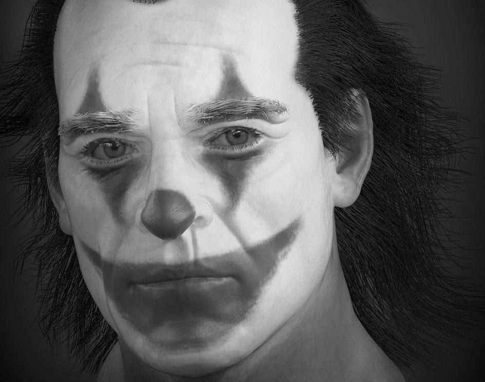 Joker in zbrush timelapseby Felipe Oliveira