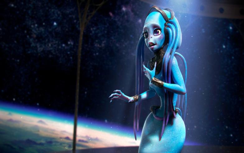 diva, alien, 3d, character, design, concept