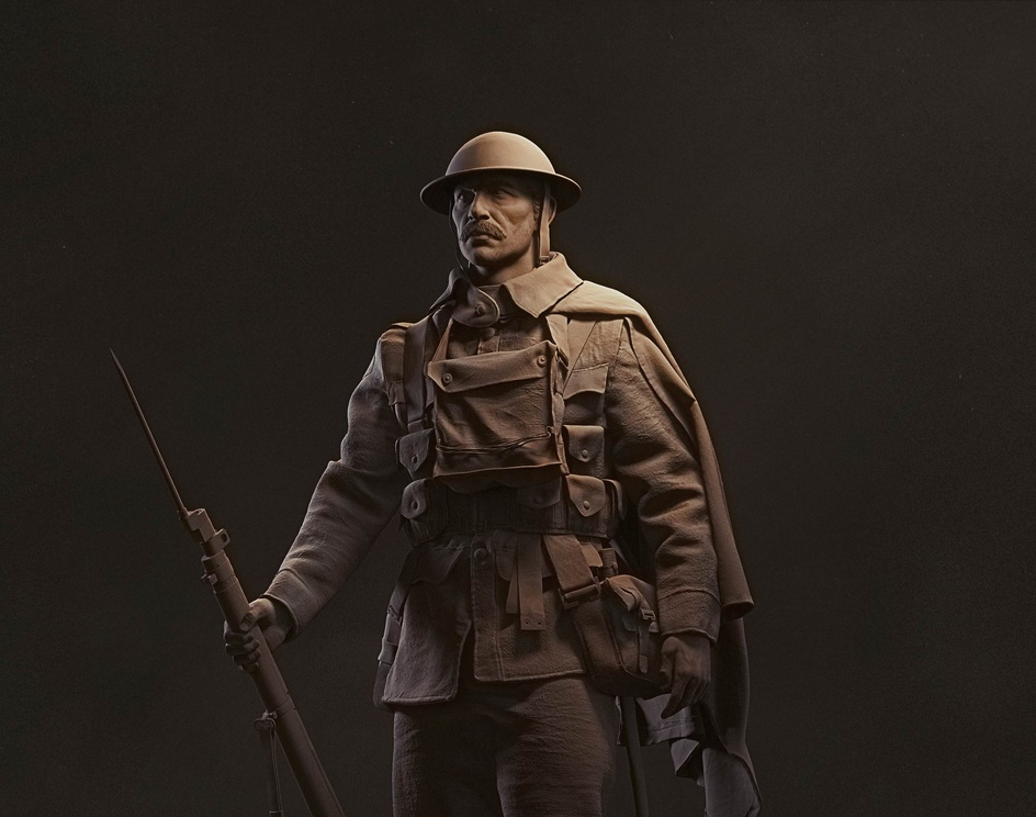 World War I British soldierby Donat Mate Hidvegi