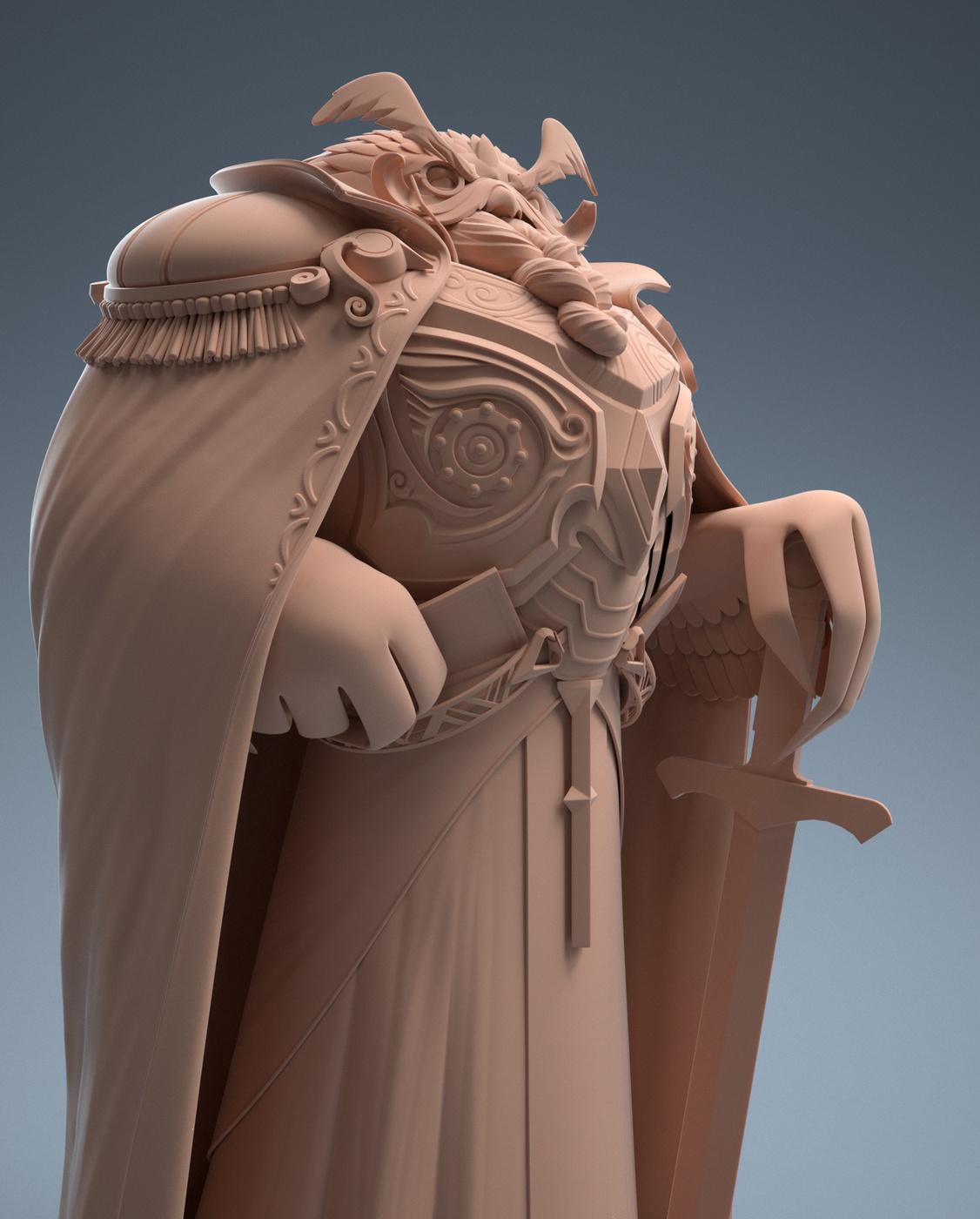 owl creature 3d rendered model