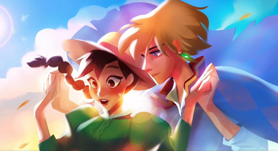 studio ghibli howl's moving castle anime fanart illustration 2d