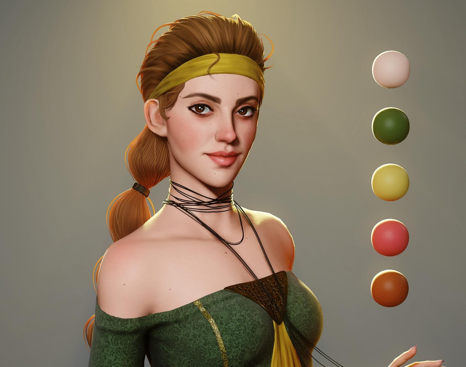 Medieval girlby David Zavala
