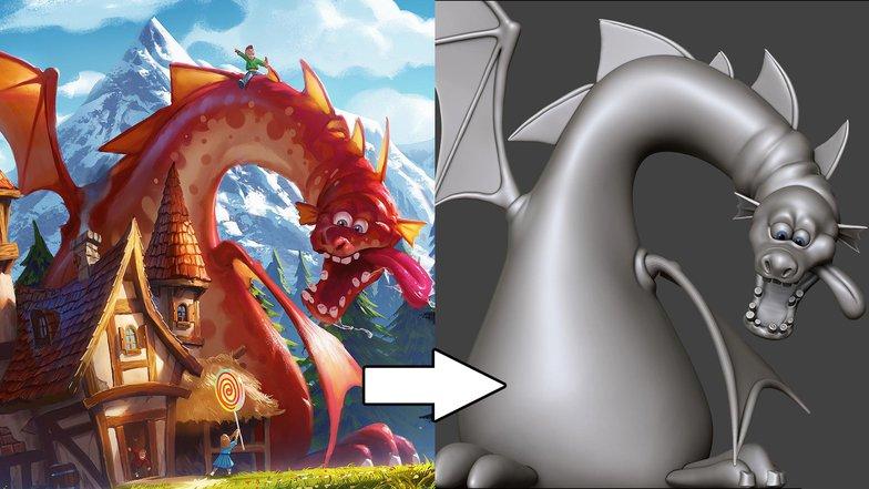 dragon processing making concept art development