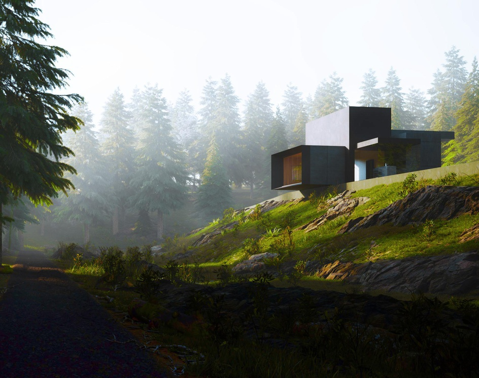 Vacation House in the pine forest.by Tharik