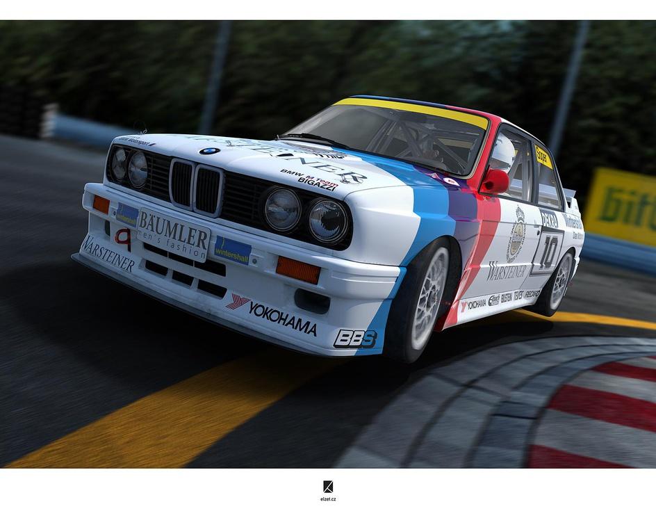 BMW E30M3, Norisring 1989by Lubor Zelinka