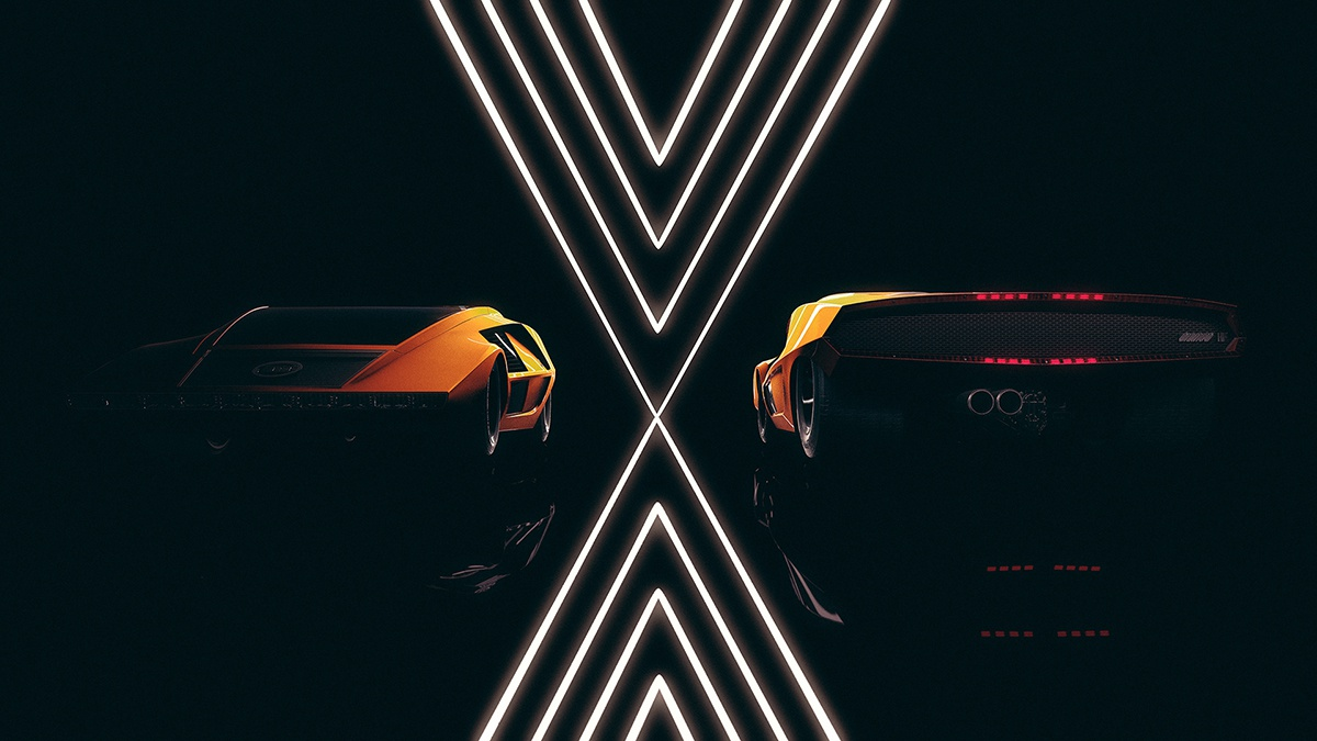 orange sports car cgi modelling