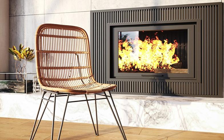 arch-viz, chair, fire