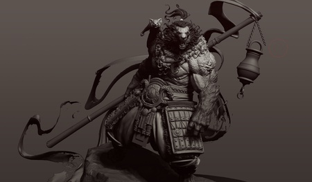 pandamonium fantasy 3d model character design render