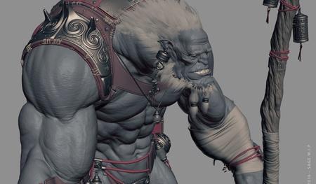 sage fantasy 3d model character design render