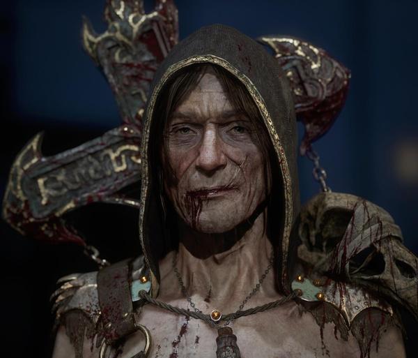 necromancer fantasy 3d model character design render