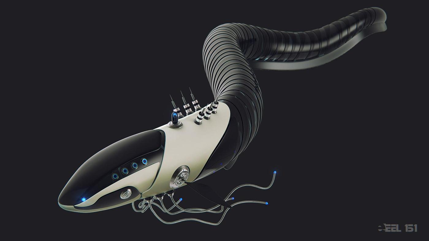 robotic model  ZBrush  hardsurface modeling 3d render creature