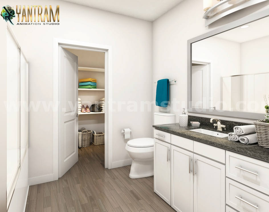 Latest Elegance Bathroom 3d interior designers by Architectural Rendering Companies, Cape Town, South Africaby Ruturaj Desai