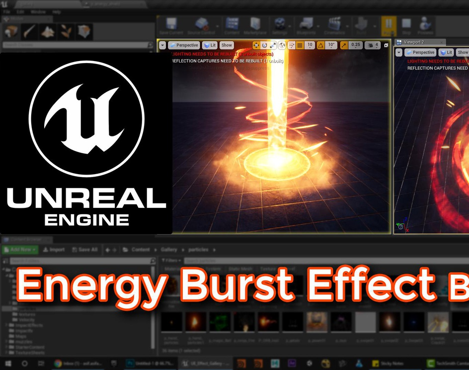 Unreal Engine | Energy Burst Effect Breakdownby Ashif Ali