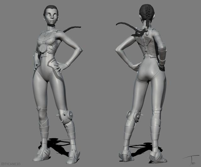 kevin beckers character female model